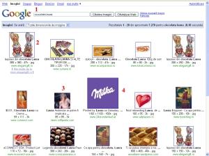 "Cautare pe google, la imagini dupa ""ciocolata laura"""
